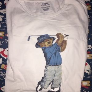 Men's XXL polo Ralph Lauren bear tee